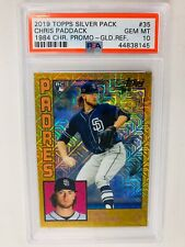2019 Topps Update Chris Paddack Silver Pack Chrome Gold /50 PSA 10 Gem Mint