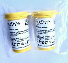 100 FreeStyle Lite Blood Glucose Test Strips 2022-Mar Sealed Vials- No box