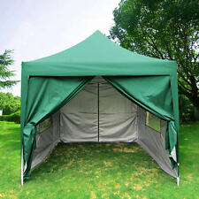 Quictent Privacy 8'X8'Green Pyramid-roof Pop Up Party Tent Canopy Gazebo Curtain