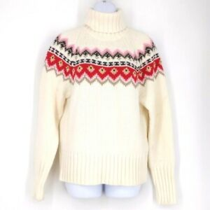 Vintage The Limited Fair Isle Chunky Knit Turtleneck Sweater XL