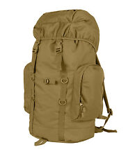 Coyote Brown SZ Large Bushcraft Camping Hiking Expedition 45L Backpack Rucksack