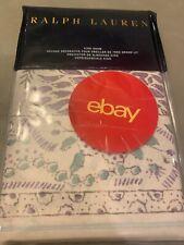 Ralph Lauren Alessandra King Sham Cream Ardsley Floral Purple $185 Pillow