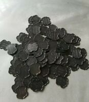 100 Black Type 1 Greenwald Industries Laundry Tokens, Tokette, New Tokens GI.