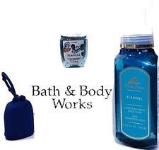 Bath & Body Works Hand Care Set of 3 Flannel Fragrance   Blue Holder