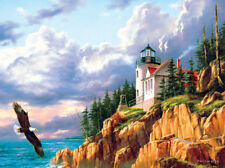 Jigsaw Puzzle Lighthouse High on the Hill 1000 pieces NEW Made in the USA