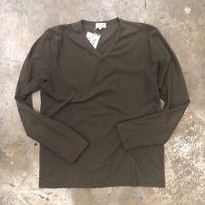 Paul Smith London Ribbed Long Sleeve Shirt Brown Thin L