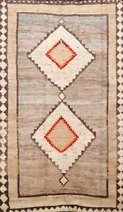 Antique South-Western Gabbeh Oriental Area Rug Wool Hand-Knotted 4x7 Carpet