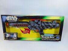 STAR WARS GREEN BOX POTF ELECTRONIC CAMO BLASTER RIFLE BLASTECH E-11 MISB 1997