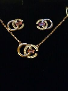 NIC & SYD Madison SWAROVSKI Crystal Necklace Pendant, & Earrings New In Box!