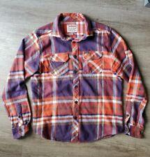 Dakine Men's Paniolos Flannel L/S Shirt Medium Orange