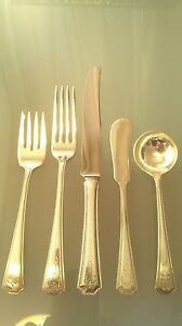"""""""Adam"""" by National Silver Co., Sterling Silver Flatware Mixed.Lot 29 units 1917"""