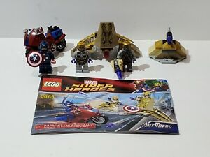 Lego Marvel Super Heroes 6865 Captain America Avenging Cycle Loose Complete Set