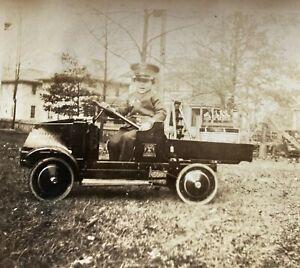 Steelcraft Pedal Mack Dump Truck, ca. 1925 *Antique photo