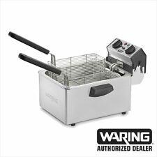 Waring Wdf75b Deep Fryer 85lb Countertop Stainless Fryer 1 Year Warranty