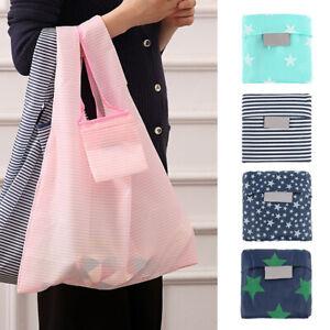 Eco-friendly Washable Bags Shopping Folding Reusable Bag Handbag Grocery Tote