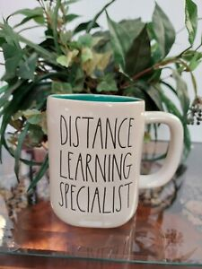 Rae Dunn Distance Learning Specialist Mug Teal Interior New with Tag