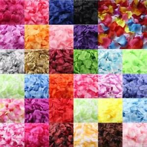 Silk Rose Petals Fake Flowers Confetti Engagement Wedding Party Table Decoration