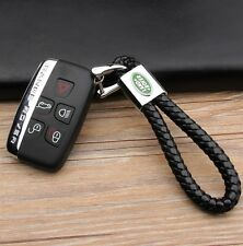 Premium Leather Key Chain Ring for Land Rover Range Rover Discovery Evoque Sport