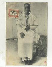 CARTE POSTALE ANCIENNE FEMME ABYSSINE DJIBOUTI  COTE DES SOMALIS 1908
