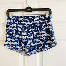 Gap Fit Womans Running Shorts Size S Blue White Print