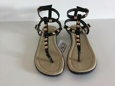 The Childrens Place Girl Children Black Sandals Shoes Youth Size 13 New