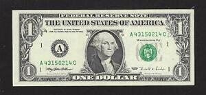 Web Note, $1.00 Series 1995 A-C Block, Federal Reserve Note, About Uncirculated!