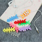 Fishbone 10pcs Earphone Headphones Wire Organizer Cable Cord Wrap Winder Holder