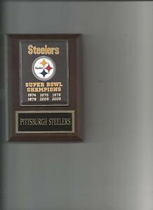 PITTSBURGH STEELERS SB BANNER PLAQUE SUPER BOWL CHAMPS CHAMPIONS FOOTBALL NFL