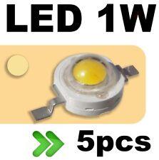 533/5# LED 1W Blanc chaud --- 5pcs