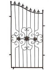 style ancienne grille barriere cloture de jardin en fer marron 157x75cm