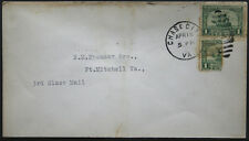 Cover - True 1 Cent Bisect to 1 1/2 Ct 3rd Class Mail rate - Chase Va S23