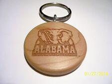 Handmade Wood Keyring (Keychain) laser engraved ~ Alabama-Crimson Tide ~ NEW