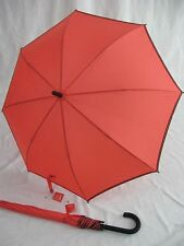 ESPRIT Regenschirm Stockschirm für Damen  Border coral 50570 Damenschirm
