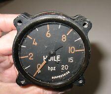 Vintage Huile (French) HPZ Surpression Gauge, Manometre Pneumatique