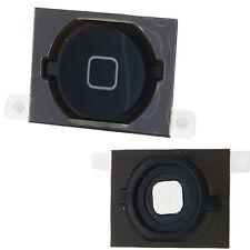 ORIGINALE iPhone 4S 4GS NERO Pulsante Home con Pad in gomma & metallo spaziatore originale