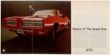 1968 PONTIAC GTO 400/350 HP * THE GREAT ONE  ~  ORIGINAL 3-PAGE MUSCLE CAR AD