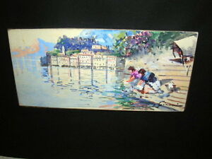 Small 20th century Landscape Painting, signed Gianni