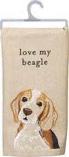 "Primitives by Kathy Love My Beagle Dish Towel, 26"""
