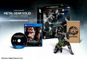 Metal Gear Solid V Ground Zeros Premium Package PS4 Games Figure Book Japan