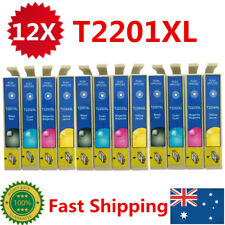 12 Ink Cartridges T220XL T2201 220 XL for Epson WF 2630 2660 XP 420 220 320 424