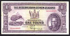 New Zealand 1934  Pound £1  L.Lefeaux P. 155 F+  Note RARE