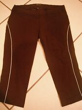 BEBE SPORT Brown CAPRI M Ladies LEGGING Yoga CROP PANT Fitness
