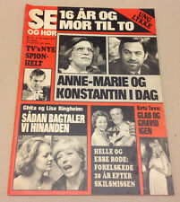 QUEEN ANNE-MARIE OF GREECE KING CONSTANTINE +ELVIS VINTAGE Danish Magazine 1978