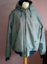 H&M mens hooded lighty padded light blue/grey jacket size XL small fit size L