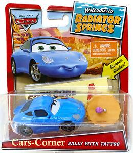 Disney Pixar Cars Sally #48 with Tattoo & Bumper Sticker RS Classics 2019 OVP