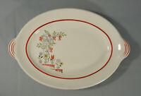 """Vintage 12"""" Oval Platter Retro Flower Pattern Betty Pepper Dinnerware #1063 AMC"""