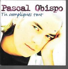 CD SINGLE 3 TITRES--PASCAL OBISPO--TU COMPLIQUES TOUT--1996