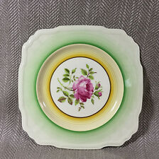 Art Deco Cake Plate Vintage China Square Platter