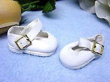 Schildkröt Vestidos de muñeca blancas Velour Muñecas Zapatos para 4 cm largo
