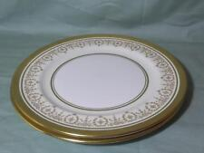 "2 Aynsley Gold Dowery Bone China Plates 9"" Salad or Starter 7892"